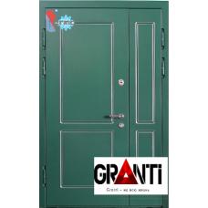 Дверь с порошковым напылением двустворчатая и терморазрывом №522
