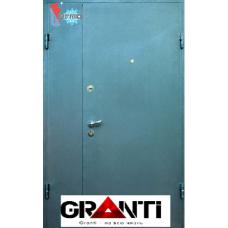 Дверь с порошковым напылением двустворчатая и терморазрывом №20